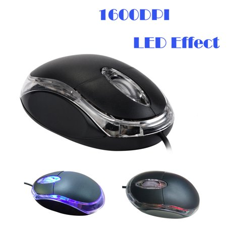 Popular PC Laptop 1200 DPI USB Wired Optical Gaming Mice Mouses A ()