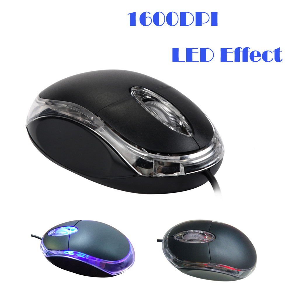 Popular PC Laptop 1200 DPI USB Wired Optical Gaming Mice Mouses A