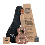 Official Kala Learn To Play Series Mandy Harvey Tenor Ukulele Starter Kit - Includes online lessons with Mandy Harvey, tuner, deluxe padded logo gig bag, and booklet
