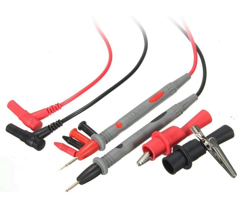 PVC wire 20A Probe Test Lead+Alloy Alligator Clips Agilent/Fluke/Ideal Clamp Multi Meter
