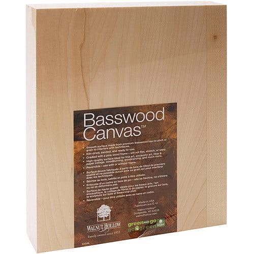 Walnut Hollow Basswood Canvas, 810 [Standard Packaging, 810]