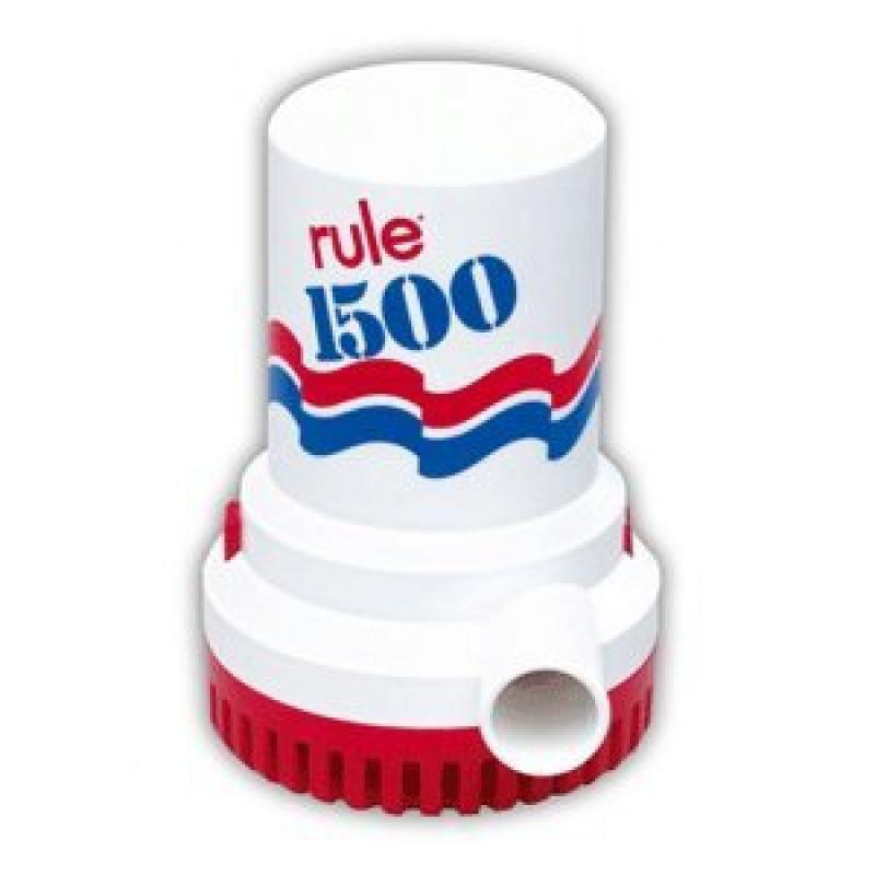 Rule 02 Bilge Pump 1500GPH 12V,Red/White/Blue