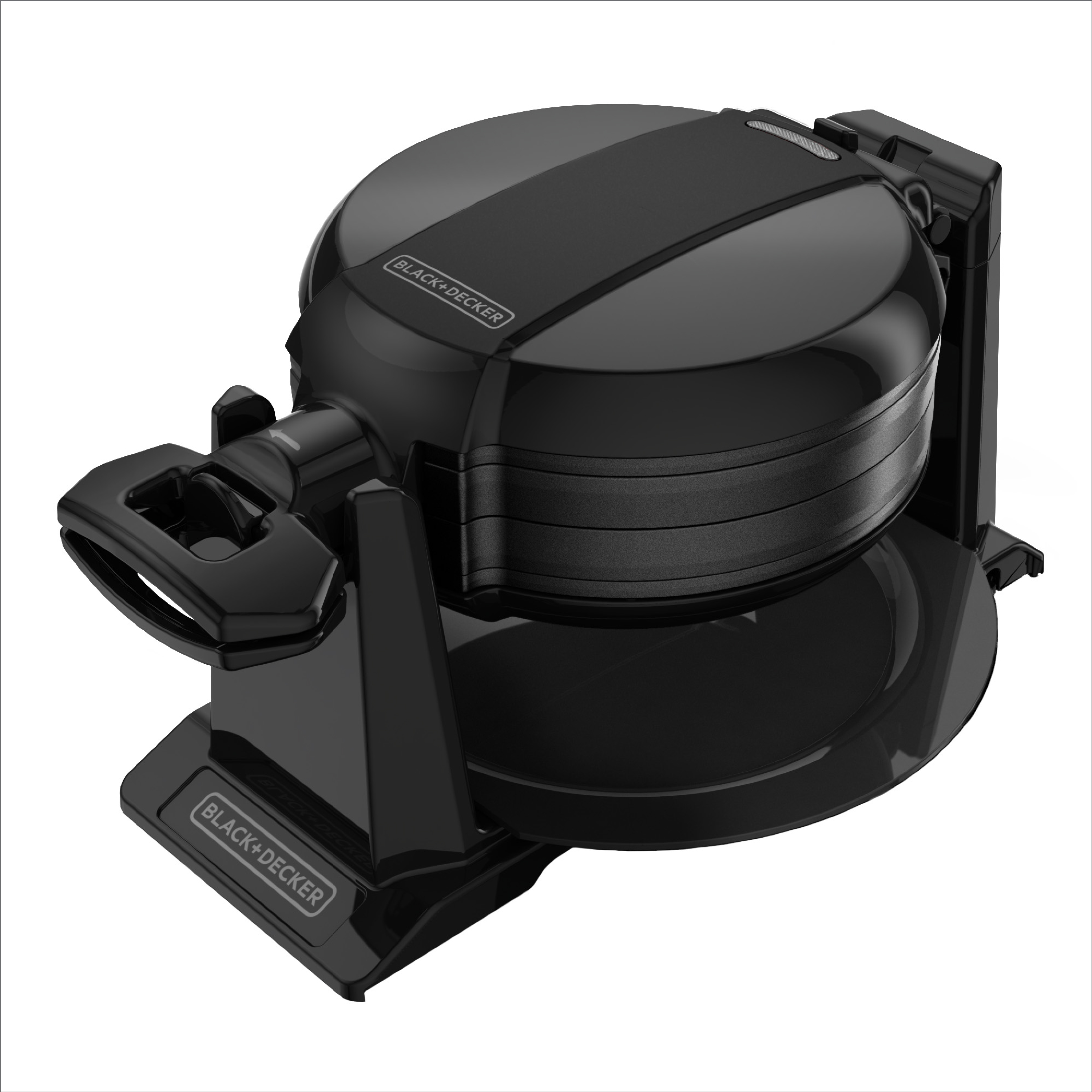 BLACK+DECKER Rotating Waffle Maker with Dual Cooking Plates, Black, WMD200B