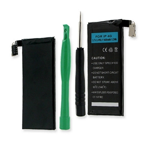 APPLE IPHONE 4 / A1332 3.7V 1400mAh LI-POL BATTERY (T) +FREE SHIPPING