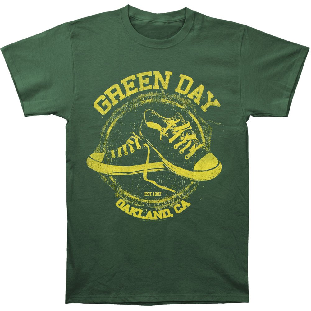 Green Day Men's  All-Star Green T-shirt Green