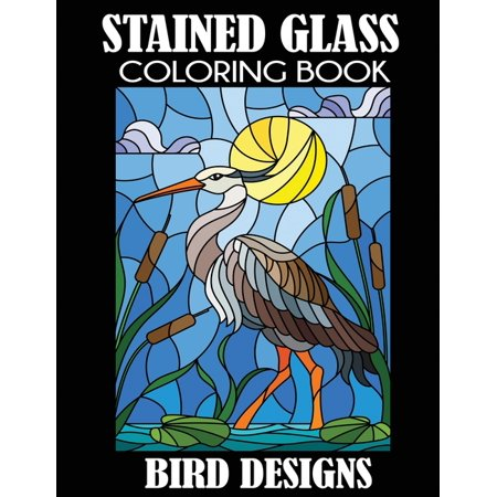 Stained Glass Coloring Book: Bird Designs (Paperback) Audubon Birds Stained Glass