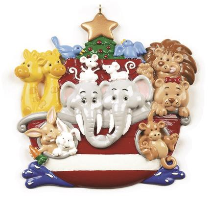 NOAHS ARK Personalized Christmas Tree Ornament DO-IT-YOURSELF ()