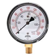 WINTERS Low Pressure Gauge,Bottom,0 to 200in H2 PLP303