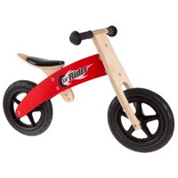 Wooden Balance Bike Ride On with Easy Grip Handles, Rubber Wheels and No Pedals to Learn Balance and Coordination- For Boys and Girls by Lil Rider