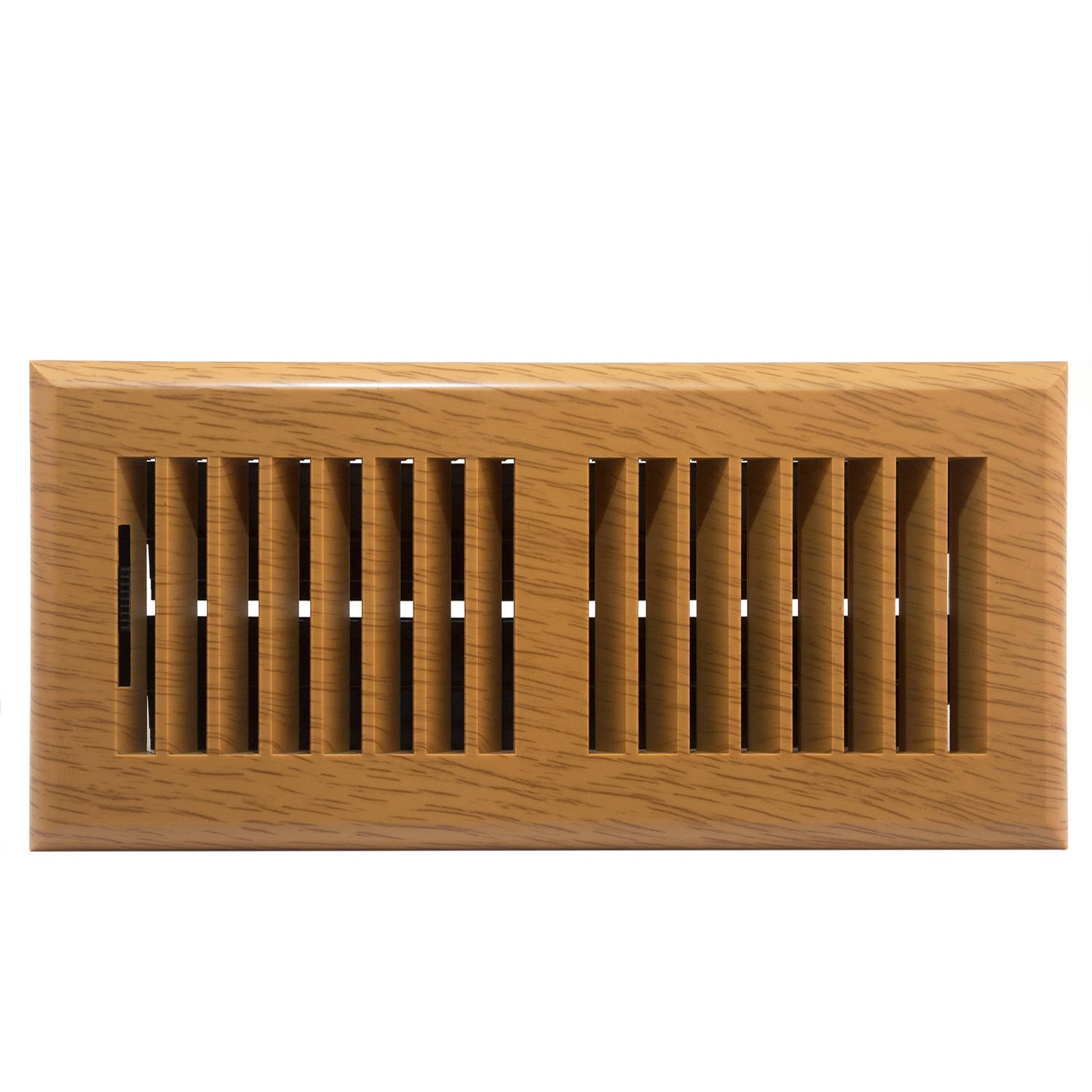 Plastic Floor Register Oak Finish Louvered Design 4 Quot X