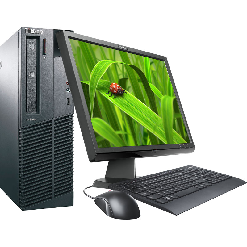 "Off Lease REFURBISHED IBM Lenovo M91 3.1GHz 8GB 1TB DVD-RW Win 7 Pro64 Desktop Computer with 19"" LCD"