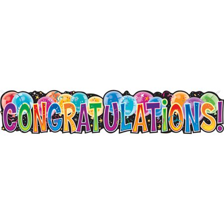 giant congratulations jointed banner walmart com