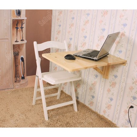 Haotian Fwt04 N Solid Wood Wall Mounted Drop Leaf Table