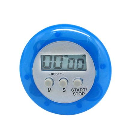 Portable Traveling Timer (Unique Bargains Kitchen Portable Blue Clip Desktop Cooking Second Minute Timer Clock )