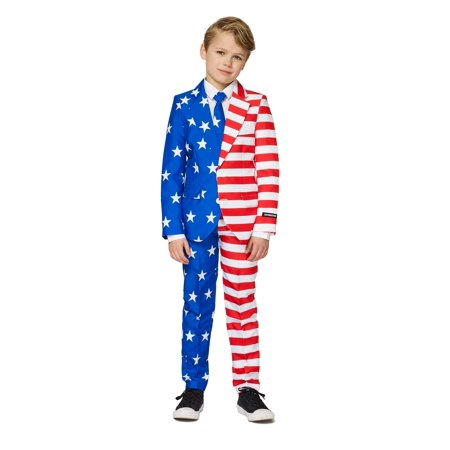 Suitmeister Boys USA Flag Americana Suit (Boys Morph Suit)