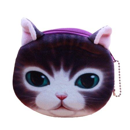 Cute Cartoon Women Girl Portable Cat Pattern Wallet Fashion Key Case Purse ()