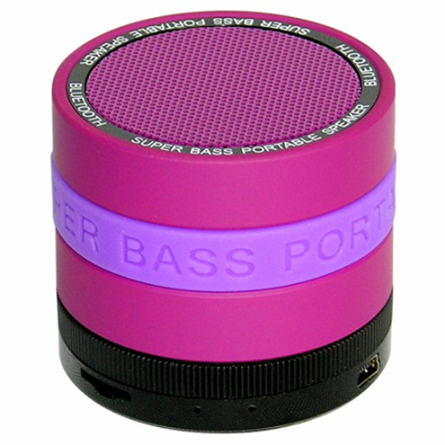 SYN Portable Bluetooth Speaker with 8 Customizable Color Bands - Purple Speaker