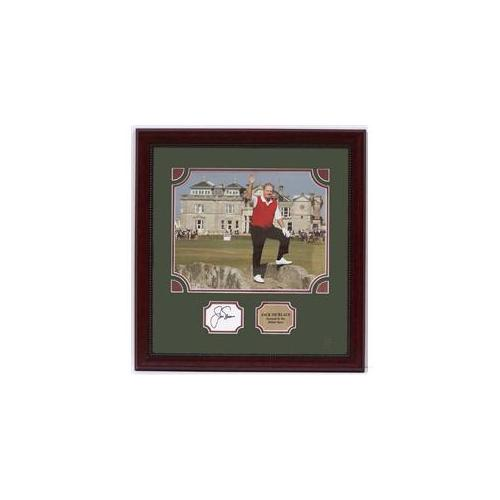 Encore Select Auto-GolfJNFarewell Jack Nicklaus 24x24  inchBritish Open Farewell inch Autographed in a 20 x 24 custom