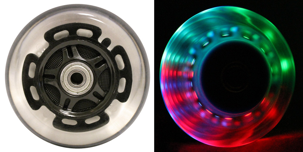 Led Scooter Wheels Abec9 Bearings For Razor Scooters 100mm Light Up