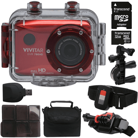 Vivitar DVR786HD HD Waterproof Action Camera Camcorder Red with Great Value