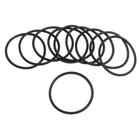 Unique Bargains Black Silicone O-ring Oil Sealing Washer Grommet 44mm x 2.4mm 10Pcs - image 1 of 1