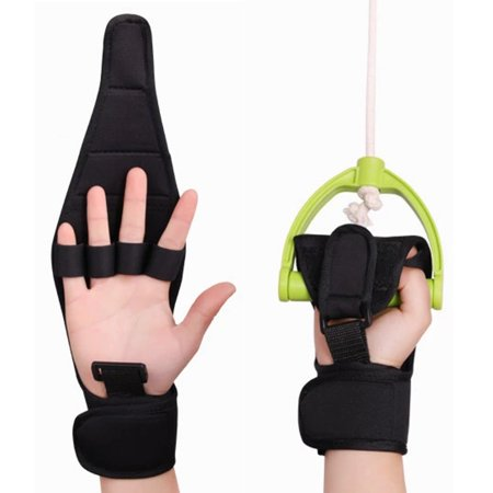 Finger Splint Brace ability,Finger Gloves Brace Elderly Fist Stroke Hemiplegia Hand Training [Single Hand] - Black
