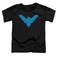 Batman-Nightwing Symbol - Short Sleeve Toddler Tee - Black, Medium 3T