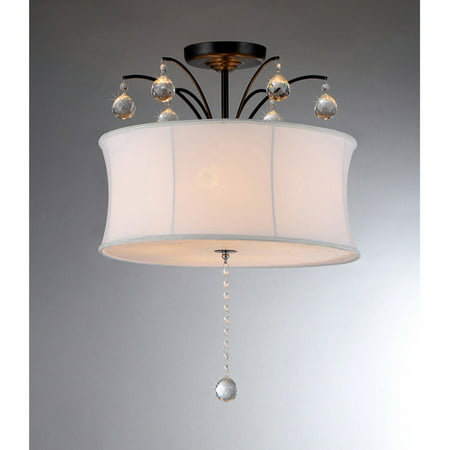 Warehouse of Tiffany Crystal Fountain RL4822 Semi Flush (Brass Tiffany Single Light)