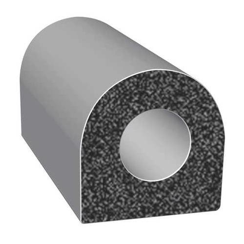 TRIM LOK INC X105HT-25 Rubber Seal, D-Section, 0.38 In W, 25 Ft