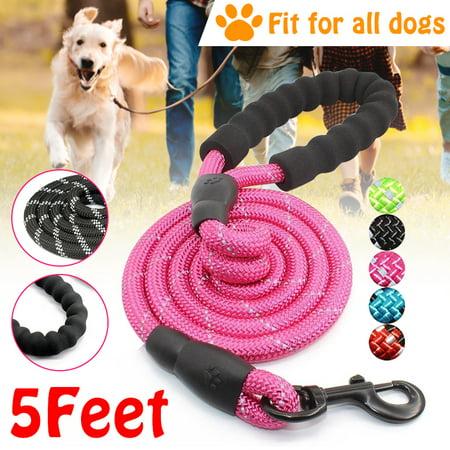 Nylon Reflective Dog Leash Pet Training Leashes Running Tracking Mountain Climbing Rope For Medium Large Big Dog,