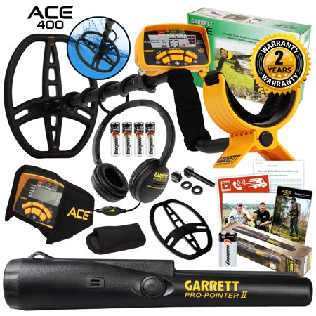 Garrett ACE 400 Metal Detector with Pro Pointer II & 3 Accessories