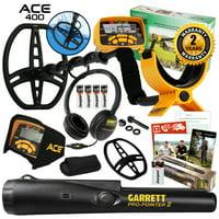 Garrett ACE 400 Metal Detector with Pro Pointer II & 3 Accessories