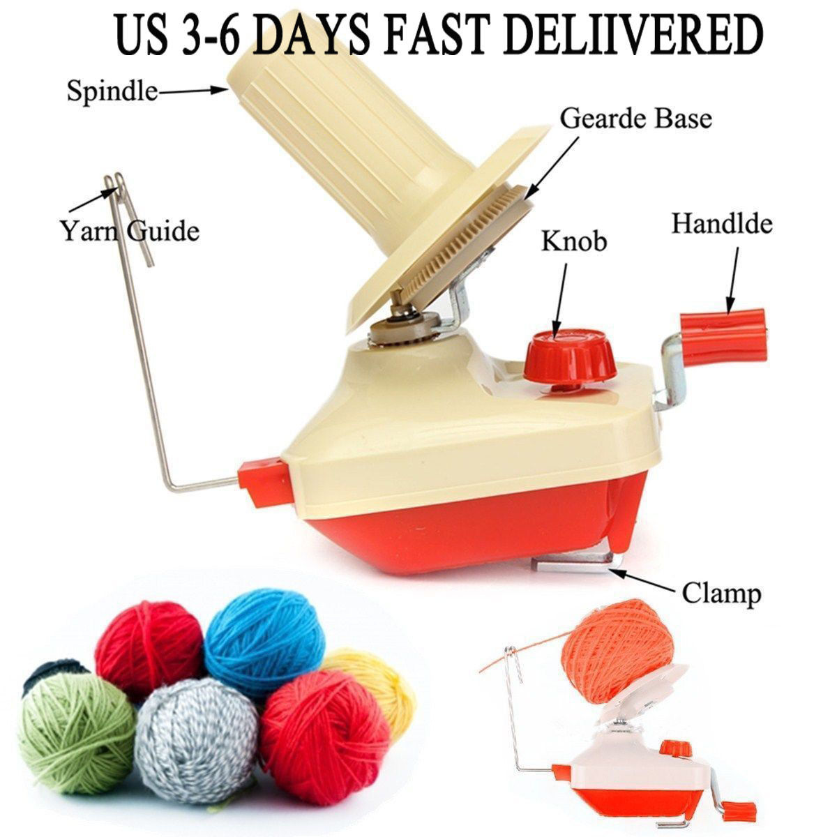 Swift Yarn Fiber String Ball Wool Winder Holder Hand Operated Winding Machine