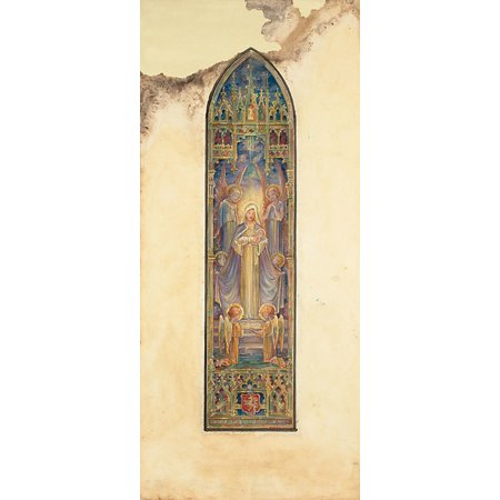 "Design for a window Mr JC Meredith St Pauls Cathedral London Ontario Canada Poster Print by Louis Comfort Tiffany (American New York 1848  ""1933 New York) (18 x (Tiffany Online Canada)"