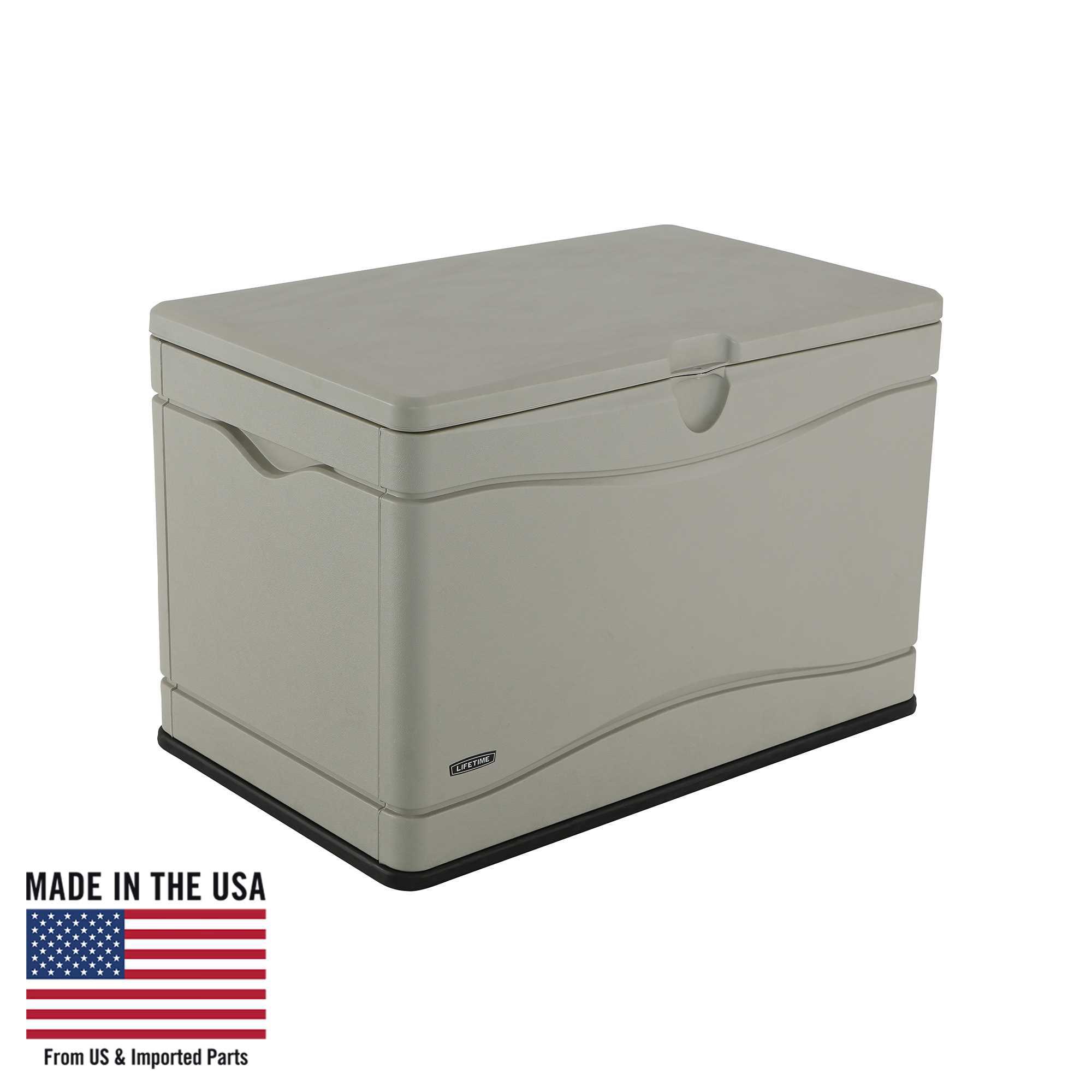 Lifetime Heavy-Duty Outdoor Storage Deck Box (80 Gallon), 60059