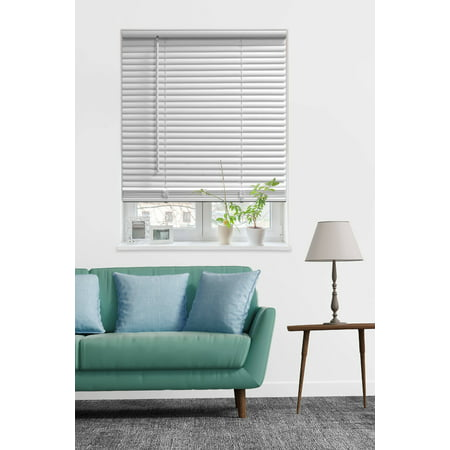 Mainstays Cordless 1 Vinyl Room Darkening Blinds White Multiple Sizes Walmart Com