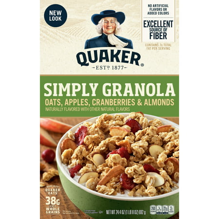 Halloween Apples With Almond Teeth (Quaker Simply Granola, Oats, Apples, Cranberries & Almonds, 24.4)