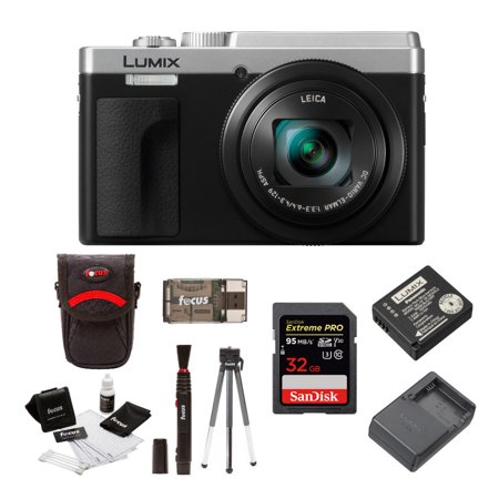 - Panasonic LUMIX ZS80 24-720mm Travel Zoom Lens Digital Camera (Silver) Bundle