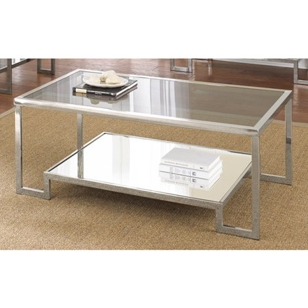 Metro Shop Cordele Chrome And Glass Coffee Table Cordele Coffee Table