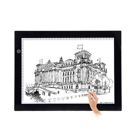 Dilwe A4 LED Ultra-thin Light Board for Tracing Portable LED Tracing Tablet with USB Power Cable for Artists Drawing Sketching Animation Designing -