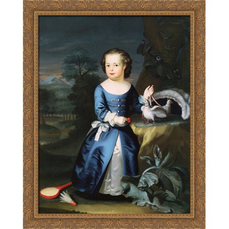 Thomas Aston Coffin 28x34 Large Gold Ornate Wood Framed Canvas Art by John Singleton Copley](Wood Coffin)