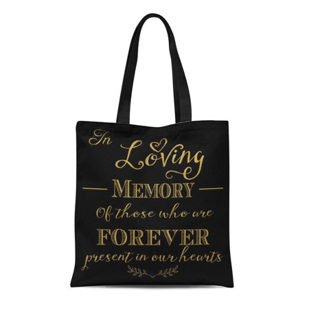 ASHLEIGH Canvas Tote Bag Chalkboard in Loving Memory Sign Vintage Diy Bride Guest Reusable Handbag Shoulder Grocery Shopping Bags - Memory Board Diy