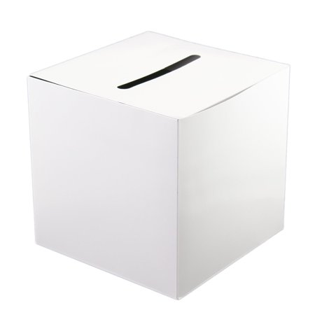 White Card Box Wishing Well Plain Money Gift Party Favor Idea Memory