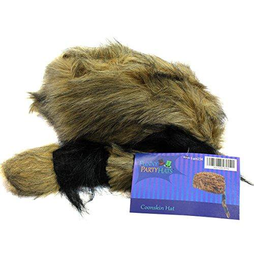 9921a6b7249 Coonskin Cap - Daniel Boone Hat Raccoon Tail Hats Novelty Hat by Funny  Party Hats - Walmart.com