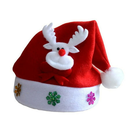 Christmas Hat Glowing Adult Shining Cap Snowman Deer Head Decorations Party Hoilday Hat - Mini Snowman Hats