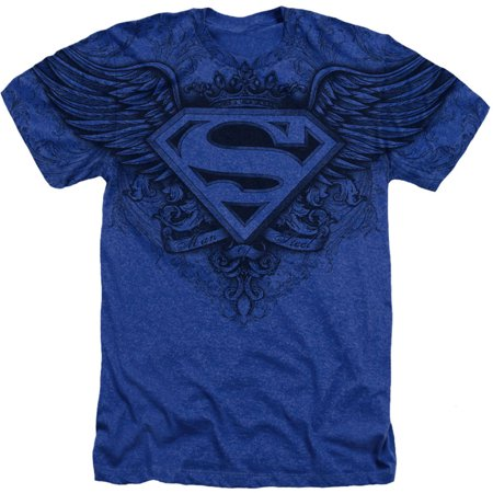 Superman Men's  Sublimation Winged Logo T-shirt Blue for $<!---->