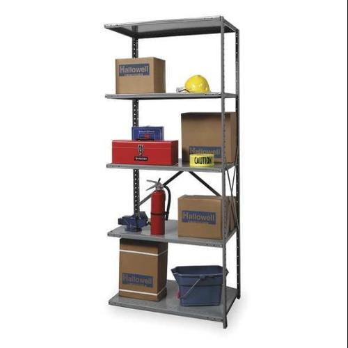 HALLOWELL A7510-12HG Add On Shelving, 87InH, 36InW, 12InD