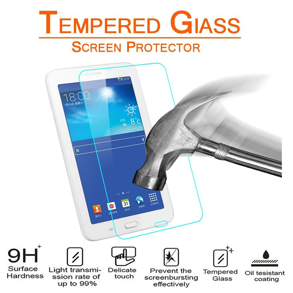 """9H Tempered Glass Screen Protector For Samsung Galaxy Tab E 8.0/"""" T378V 3-Pack"""