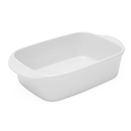 Chantal 93A-RT26T WT 10 by 7 by 2.75-Inch Rectangular Baking Dish, Small, Glossy White