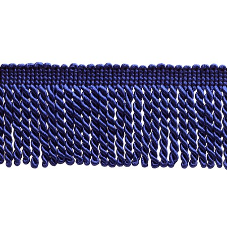 Style Fringe - 2.5 Inch Bullion Fringe Trim, Style# EF25 Color: Ultramarine / Royal Blue - J4, Sold By the Yard